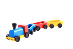 Old wooden train toy Royalty Free Stock Photography