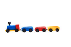 Old wooden train toy Royalty Free Stock Images