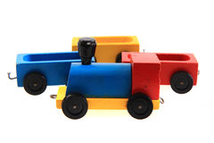 Old wooden train toy Royalty Free Stock Photo