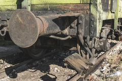 Old wooden train wagon Royalty Free Stock Photography