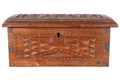 Old wooden treasure chest, iso. Lated on a white background Stock Images