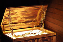 Old wooden treasure chest Royalty Free Stock Image
