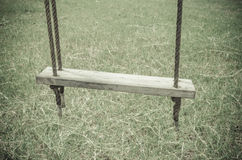 Old wooden tree swing Royalty Free Stock Images