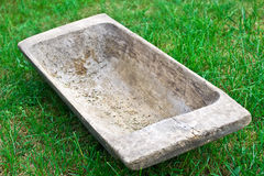 Old wooden trough Stock Photo