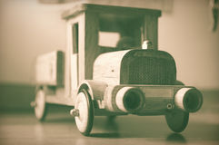 Old wooden truck toy. Royalty Free Stock Photo