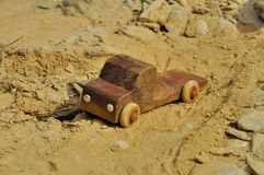 Grandfathers old wooden truck toy Royalty Free Stock Photos