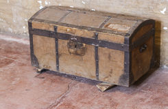 Old wooden trunk Stock Image
