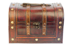 Old wooden trunk isolated retro vintage Stock Photos