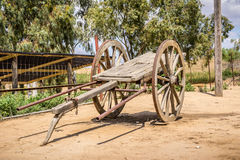 Old wooden two-wheeled cart Royalty Free Stock Photo