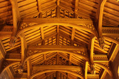 Old wooden vaulted ceiling Royalty Free Stock Photo