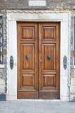 Old Wooden Venice Door Royalty Free Stock Photos