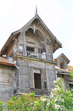 Old wooden villas Stock Images