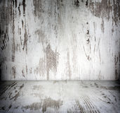 Old wooden vintage damaged white boards room Royalty Free Stock Images