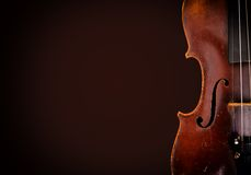 Old wooden violin stock images