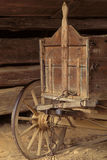 Old Wooden Wagon. An old wooden wagon with spokes wooden wheels Stock Photography