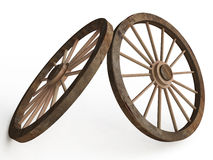 Old Wooden Wagon ( Carriage) Wheels Stock Images