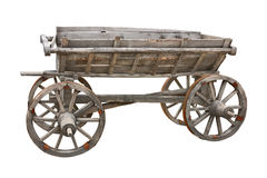 Old wooden wagon cutout Royalty Free Stock Photo