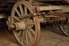 Old wooden wagon Stock Photos