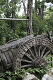 Old Wooden Wagon. In the details Stock Photo