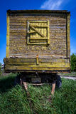 Old Wooden Wagon. Staying outdoor Stock Image