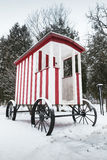 Old wooden wagon for swimming in winter Stock Photography