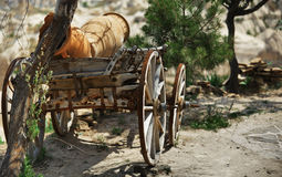 Old wooden wagon. In Turkey village Stock Images