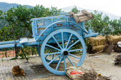 Old wooden wagon. Used by farmers in Sardinia Royalty Free Stock Photos