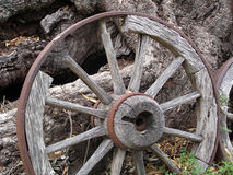 Old Wooden Wagon Wheel Royalty Free Stock Photos