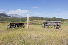 Old wooden wagons Stock Photography