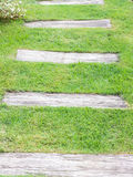 Old wooden walkway Royalty Free Stock Photography