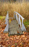 An old wooden walkway on land Stock Image