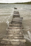 Old wooden walkways. Storm Stock Photos