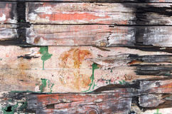 Old wooden wall. Withi paints on natural light Royalty Free Stock Image