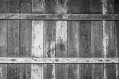 Old wooden wall. The antiques wooden wall in black and white color stock photography