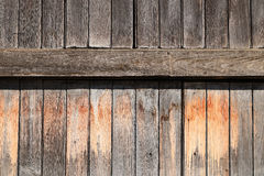 Old wooden wall background. Detail of old wooden wall background Royalty Free Stock Photos