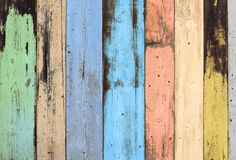 Old wooden wall background. Old grunge colorful wooden wall background texture stock images