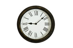 Old Wooden Wall Clock Royalty Free Stock Photo