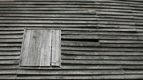 Old wooden wall and close window Stock Images