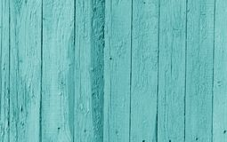 Old wooden wall in cyan color. Abstract background and texture for design stock photo
