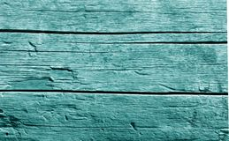 Old wooden wall in cyan tone. Abstract background and texture for design stock photos