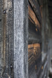 Old Wooden Wall. The edge of an old wooden building Stock Images