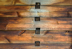 Old wooden wall with joints Stock Image