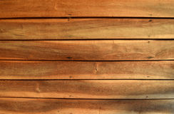 Old wooden wall with nails hammered is orange tone Royalty Free Stock Images