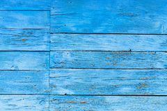Old wooden wall painted blue background Royalty Free Stock Image