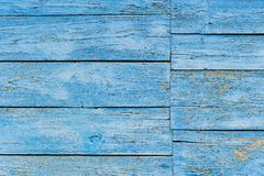 Old wooden wall painted blue background Royalty Free Stock Photos