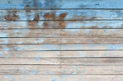 Old wooden wall painted blue background Royalty Free Stock Photo