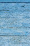 Old wooden wall painted blue background Stock Photography