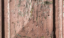 Old wooden wall painted in brown with crack grunge, background Stock Photo