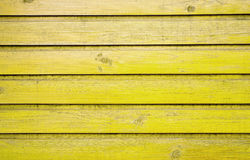 Old wooden wall. Painted yellow Royalty Free Stock Image