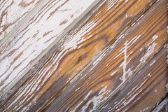Old wooden wall with peeling paint. Texture. royalty free stock photography